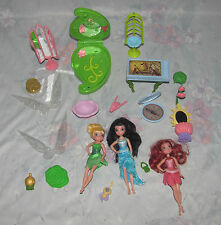 Disney Tinker Bell Fairy Fairies Lot - Tink, Rosetta, Silvermist, Cloth Skirts