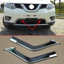 Chrome Front Grill Trim For Nissan X-Trail T32 2014-2016 Grille Air-Inlet Cover