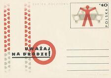 Poland prepaid postcard (Cp 540) road safety