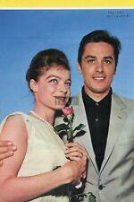 ALAIN DELON ROMY SCHNEIDER / GEORGE MAHARIS VINCE EDWARDS 1962 JPN Clipping#YC/n