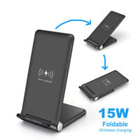 15W Qi Wireless Charger Dock Pad Mat For iPhone 11 8 XS Samsung S10 Note 10 9 8
