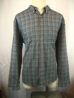 Men's Woolrich Gray Plaid Heavy Flannel LS Casual Shirt Size XL