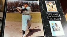 Enos Slaughter New York Yankees signed plaque +coa