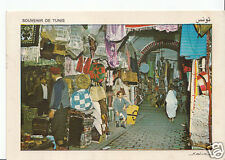 Tunisia Postcard - Tunis - Cloth Souk (Market)   EB215