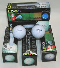 15 Nitro LD+20 ILLEGAL GOLF BALLS - Distance EXCEEDS USGA Standards LOT 88005