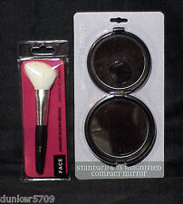 ESSENCE OF BEAUTY ANGLED BLUSH  BRUSH FOR FACE IN REUSABLE CASE & MIRROR NEW