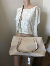 DKNY Large Light Beige Bryant Park Saffiano Leather Bag - New $499