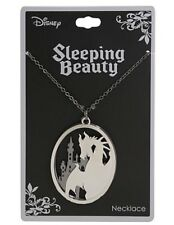 Disney Sleeping Beauty Maleficent Castle Layered Frame Pendant Necklace NWT!