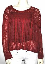 Kensie Knit Top Sweater SMALL/ RED, NWT $68