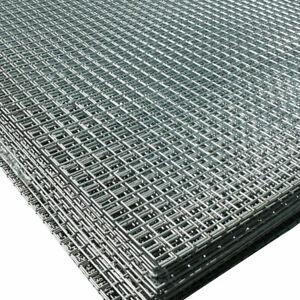 "Welded Wire Mesh Panels | Galvanized Steel Sheet | 1"" x 1"" Hole (Choose Size)"