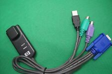 HP PS/2 + USB KVM Switching Media Interface Network Enthernet Cat5e RJ45 Cable