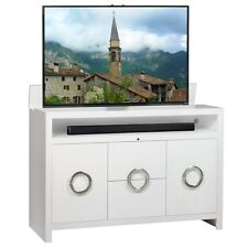 Enclave White TV Lift Cabinet by TVLIFTCABINET