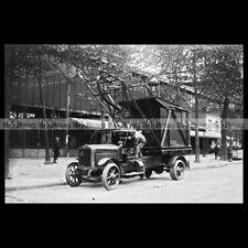 #pha.034999 photo truck municipal de dion bouton les halles paris truck 1927