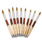 Wood Acrylic Kolinsky Nail Brushes Sizes 8-24 Nail Art Brush SHIPS FROM USA