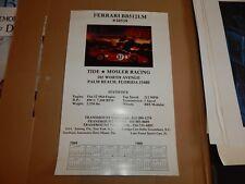 Vintage Beautiful 1985 Ferrari BB512 LM race car poster VIN # 30559 Le Mans
