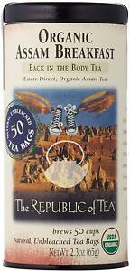 Organic Assam Breakfast Back in the Body Tea by The Republic of Tea, 50 tea bag