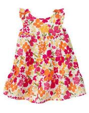 Gymboree NWT Fairy Floral White Pink Orange Tier Ruffle Sun Dress 3-6 months