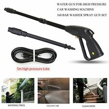 More details for uk high pressure power washer spray gun jet lance trigger wash wand &5m hose kit