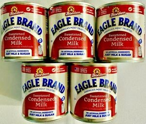 5 Borden Eagle Brand America's Most Trusted Sweetened Condensed Milk 14 OZ Cans