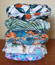 ICLOTHUP Baby One Size Double Gusset Pocket Cloth Nappy Shell Bulk Pack
