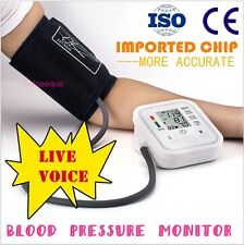 TENSIOMETRO PULSOMETRO DIGITAL BRAZO Arm Blood Pressure Monitor Tensiometer Voz