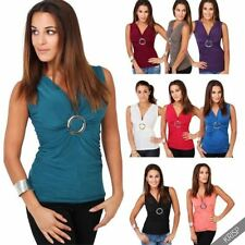 Viscose Solid Vests for Women