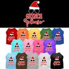 Grinch Please Screen Print Dog Cat Pet Puppy Christmas Shirt
