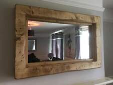 Extra large Reclaimed Wooden Rustic Farmhouse wall Mirror English Oak wax *SALE*