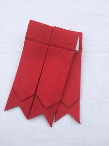 Scottish Kilt Sock Flashes Plain Red/Kilt Hose Flashes Red/kilt Flashers
