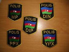 PATCH POLICE AZERBAIJAN - SET LOT 5 patches! National units -  ORIGINAL!!!