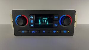 03-06 Silverado Sierra Auto Heater Digital Climate Control BLUE LED