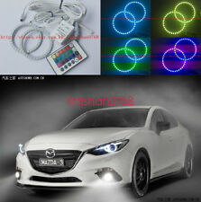 2x Excellent RGB Multi-Color Angel Eyes Halo Rings For Mazda 3 Axela 2014 - 2016