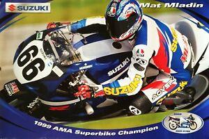 Vintage Poster 2000 Matt Mladin Yoshimura Superbike GSX-R750 Champion