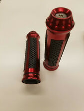 UNIVERSAL MOTORCYCLE AND  MOTORIZED BICYCLES  HAND GRIPS RED-B