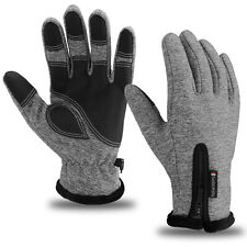 Mens Winter Windproof Waterproof Thermal Warm Gloves Touch Screen Mittens