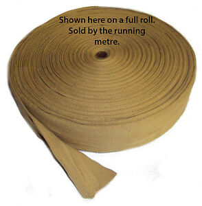 "Carpet edge binding trim BEIGE GOLD cotton webbing 2"" wide RUGS & CARPET MATS"