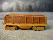 Handcrafted Handmade Solid Wood Large Scale Train Open Gondola