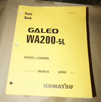 2004 Komatsu Galeo WA200-5L Wheel Loader Parts Book Manual P/N BEPB022100