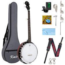More details for kmise banjo 5 string 24 bracket closed solid back geared 5th tuner arm rest kit