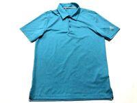 Adidas Golf Mens Blue Short Sleeve Polo Shirt Size Medium
