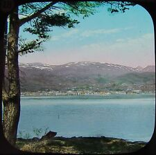 Glass Magic Lantern Slide MOLDE FROM ONE OF THE ISLANDS C1890 WESTERN NORWAY