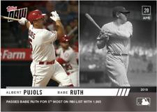 New listing Albert Pujols/Babe Ruth - MLB TOPPS NOW® Card 112 - Print Run: 638