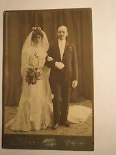 Karlskrona - 1901 Hochzeit - Paar - Frau im Hochzeitskleid Schleier & Mann / KAB