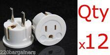 Plug Adapter 12PK - European / Asian Schuko Plug Adapter - USA to Europe / Asia