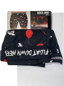 IT Pennywise We All Float Down Here Mens Black Underwear Boxer Briefs Sz Med.