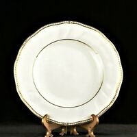 WEDGWOOD England china CROWN GOLD pattern Salad Plate - 8""