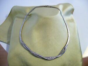 massives vintage collier silberkette 835 silber 45cm.lang