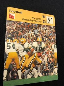 1977-1979 Sportscaster Card Football 1967 Green Bay Packers