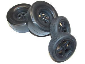 Team Associated DR10 Drag Car Street Eliminator Wheels Tires Rims Slicks