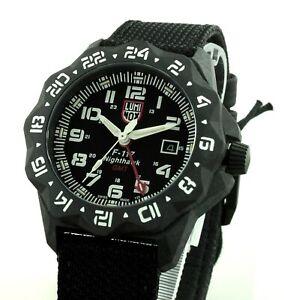 - 38 % Ersparnis  Luminox  Herren UHR XA.6441 F-117 Nighthawk Black Carbon  Neu